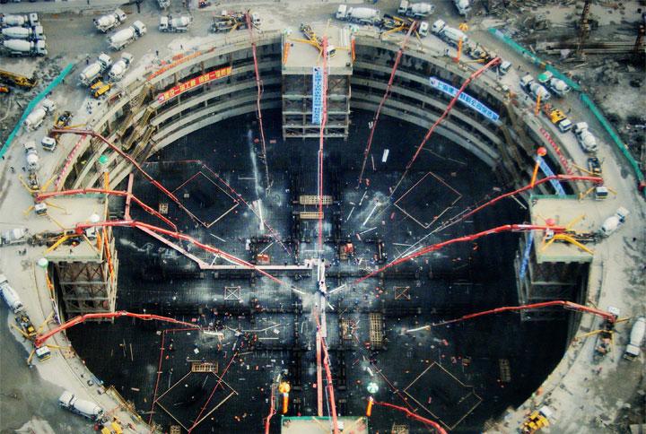 上海中心底板施工